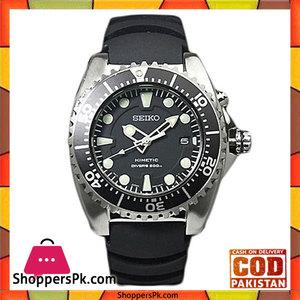 Seiko Black Stainless Steel Watch For Men -SKA371P2