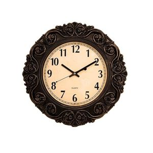 Antique Gold Shaded Black Wall Clock  17×17