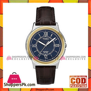 Timex Blue & Brown Leather Analog Watch For Men