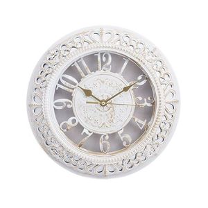Gold Shaded Antique Wall Clock  12×12  White