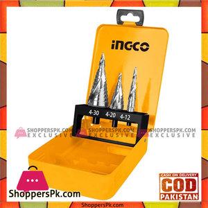 INGCO 3pcs Step Drill Bit Set  AKSDS0302
