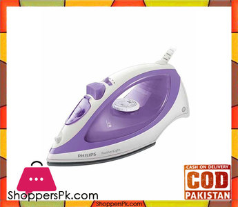 Philips GC1418/02  FeatherLight Steam Iron  Purple & White (Brand Warranty)