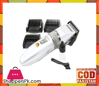 Kemei  Rechargeable Electric Hair Clipper  Km 27C  White