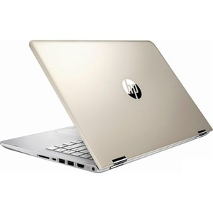 HP Pavilion x360 14m BA104DX Laptop, 8th Gen Ci5 8GB 128GB SSD 14 FHD IPS Convertible Touchscreen Win 10 Backlit KB (Silk Gold With Silver Pattern, Certified Refurbished)