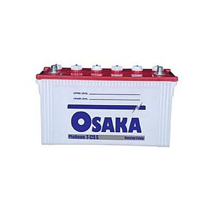 Osaka Batteries PLATINUM T125 S 15 Plates Acid Battery White