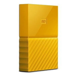 WD  My Passport 1TB External USB 3.0 Portable Hard Drive  Yellow (WDBYNN0010BYL)