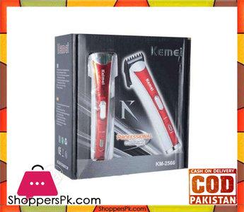 Kemei Km 2566  Hair Trimmer  Red & White