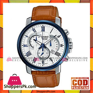 Casio Beside Brown Quartz Leather Band Watch