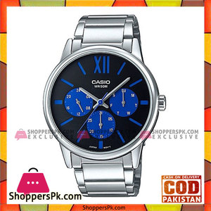 Casio Blue Dial Steel Band Watch