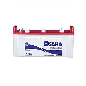 Osaka Batteries PLATINUM P210 S 23 Plates Acid Battery White