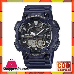 Casio AEQ-110W-2AVDF  Rubber General Analog Watch For Men  Black