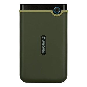 Transcend StoreJet® 25M3 1TB USB 3.0 Portable Hard Drive  TS1TSJ25M3G  Military Green (2-Year Warranty)