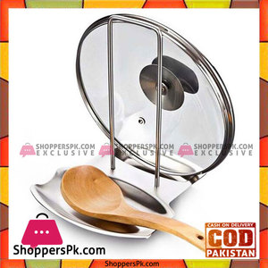 Lid and Spoon Rest Stand Stainless Steel