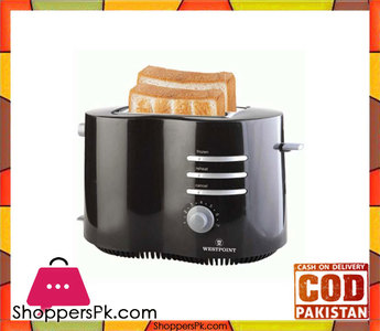 Westpoint 2 Slice Toaster  WF-2542  Black