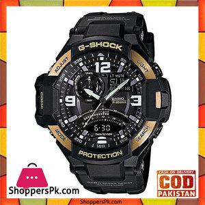 Casio  G Shock Black G Shock Quartz Watch for Men  GA-1000-9GDR