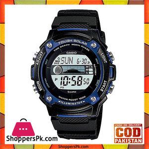 Casio Black Resin Watch for Men  W-S210H-1AVDF
