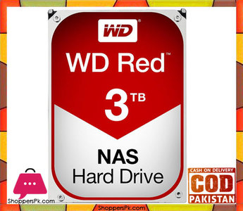 WD Red 3TB NAS Hard Disk Drive  5400 RPM Class SATA 6Gb/s 64MB Cache 3.5 Inch  WD30EFRX