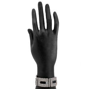 Silver Steel & Stone Bracelet for Women  JP-2936
