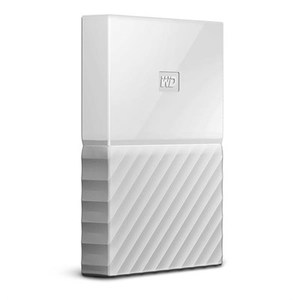 WD  My Passport 1TB External USB 3.0 Portable Hard Drive  White (WDBYNN0010BWT)