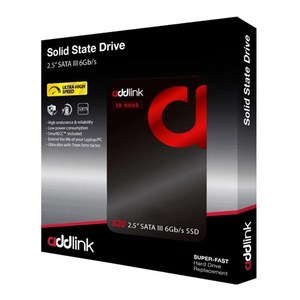 addlink S20 SATA III 6Gb/s 2.5 SSD 3D NAND 256GB