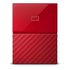 WD My Passport 4TB External USB 3.0 Portable Hard Drive  Red