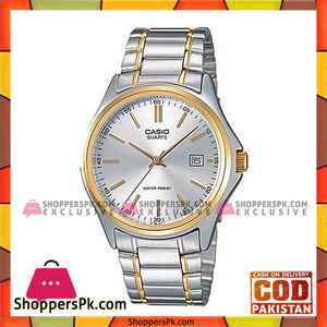 Casio Silver & Gold Alloy Analog Watch For Men