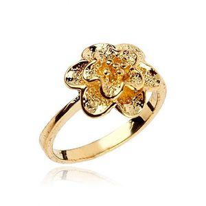 Golden 24-K Gold Plated Flower Stylish Ring
