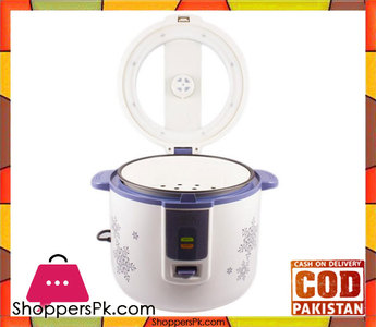Anex AG-2021  Deluxe Rice Cooker  White & Blue