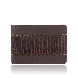 Dollar Size Lizard Print MenS Wallet In Brown
