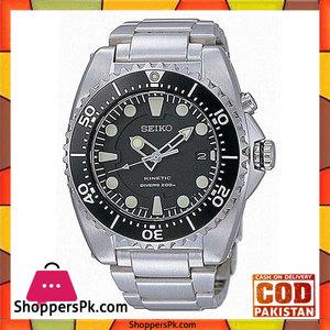 Seiko Black Stainless Steel Watch For Men -SKA371P1