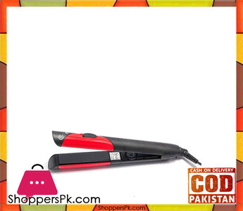 Kemei  Km-1296  Hair Straightener  Black & Red