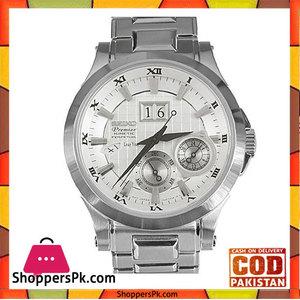 Seiko Mens White Stainless Steel Watch (Model No. SNP001P1)