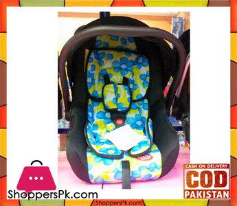 Car Seat Cum Baby Carry Cot Brown Flower Print