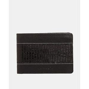 Dollar Size Lizard Print MenS Wallet In Black