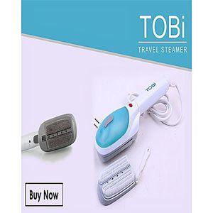 TOBI Travel Steam Iron Blue & White