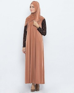 Jersey Front Close Style Abaya  - Light Purple