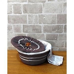 3 Piece Roti Hot Pot Basket - Multi Designs - Multicolor
