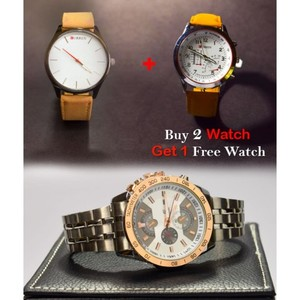 Buy 2 Watches And Get 1 Casio Watch Free - Multicolor