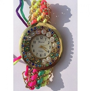 Thread Strap Watch For Women - Multicolor
