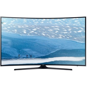 Samsung KU7350  55- 4K Curved UHD Smart LED TV - Ultra HD  - Black