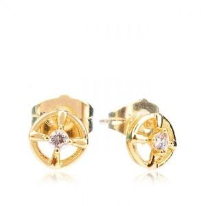 18-K Gold Plated Earrings Stylish Earrings - Golden