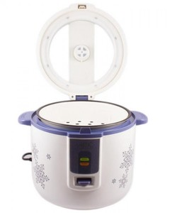 Deluxe Rice Cooker  - White and Blue