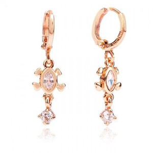 Rose Gold Plated Stylish Earrings - Golden