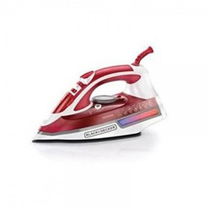 Steam Iron With 2600 Watt - 220 Steam Holes - Red And White
