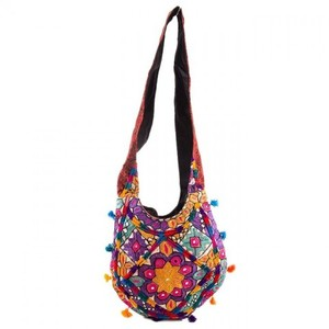 Hand Embroided Classy AppleShaped Bag - Red