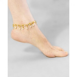 Anklet For Women - Golden And White