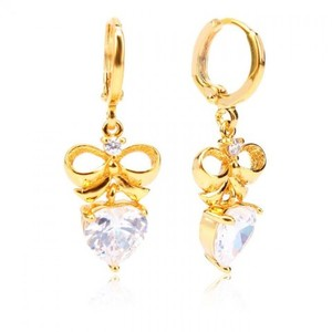 24-K Gold Plated Stylish Earring - Golden