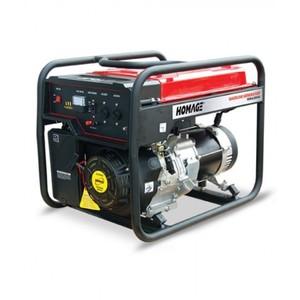 Homage HGR-5.05 KVD Generator With Gas Kit - 5.0 KVA - Black