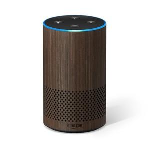 Amazon Echo 2nd Generation Smart Speaker Walnut Finish