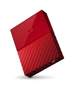 WD My Passport 4TB Portable External Hard Drive Red (WDBYFT0040BRD)
